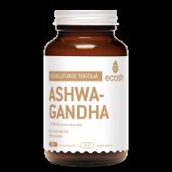 Adaptogeensete taimede hulka liigitatud Ashwagandha taim soodustab tasakaalu kehas, toetab head und ja lõõgastunud olekut. Ashwagandha toetab neuroloogilise, reproduktiivse, endokriinse süsteemi normaalset talitlust, aitab kaasa energia tootmisele ja eluea pikenemisele.