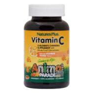 MOMENDIL OTSAS!  Nature's Plus suhkruvaba bioflavonoididega C-vitamiini imemistablett on mõnusalt apelsinimaitseline. Loomakujulised imemistabletid on magustatud ksülitooliga, antibakteriaalse loodusliku suhkruga, mis pärsib patogeensete bakterite kasvu nii suus kui soolestikus.  Kasutamine: 2 imemistabletti päevas.  Purgis 90 tbl, soovituslik päevane kogus (2tbl ) sisaldab 250 mg C-vitamiini.